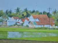 Violet-blue-Tamil-village-with-paddy-
