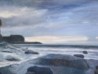 15/ dusk over staithes framed size 53 x 41 cm £375