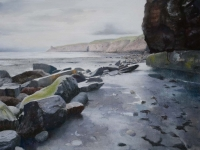 10/ under the cliff framed size 73 x 62 cm £575