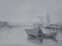 42/ Fog on the Wear, Sunderland framed size 71 x 55 cm £525
