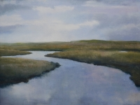 62/ tees estuary framed size 73 x 63 £575
